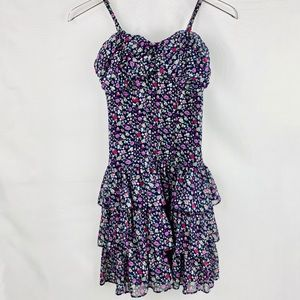 EXPRESS Floral ruffled dress with removable straps
